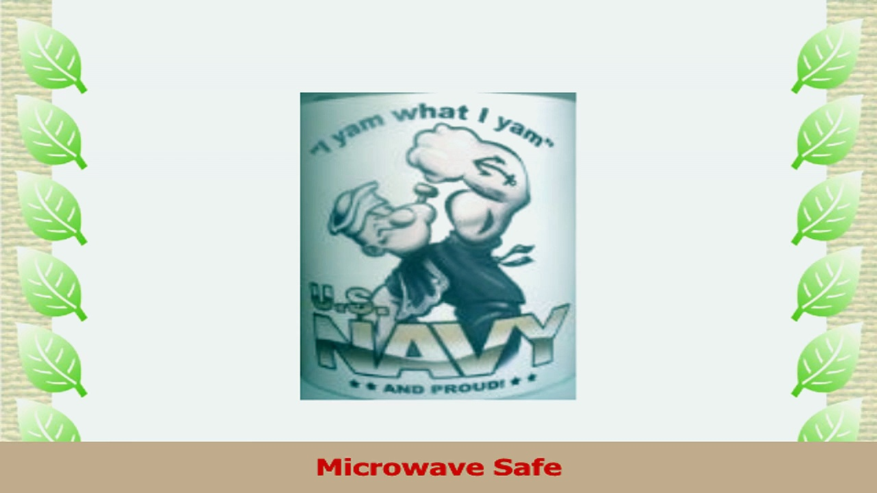 Popeye Navy Coffee Mug Set of 2 11 Oz 43450dbe