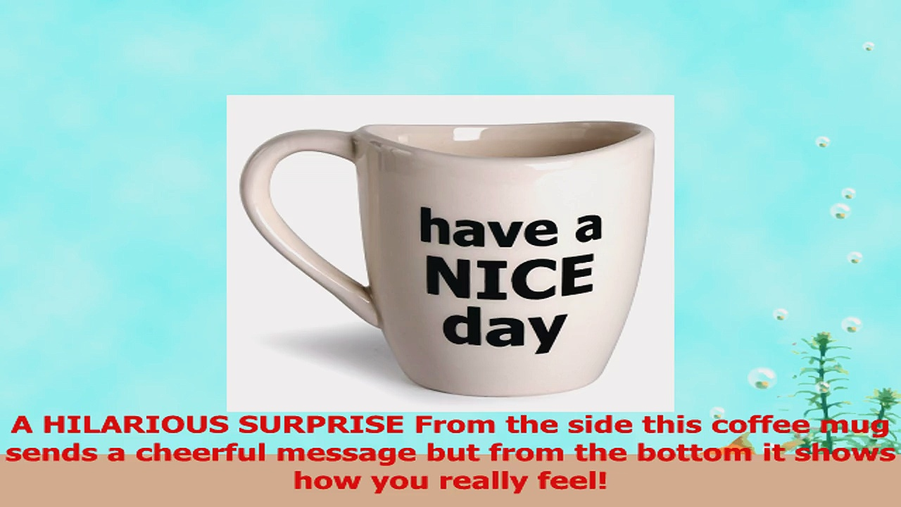 Have a Nice Day Coffee Mug Funny Cup with Middle Finger on the Bottom 14 oz  by Decodyne 6150d849