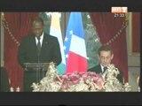 Le couple présidentiel ivoirien a pris part au Dîner d'Etat offert par SEM Nicolas Sarkozy