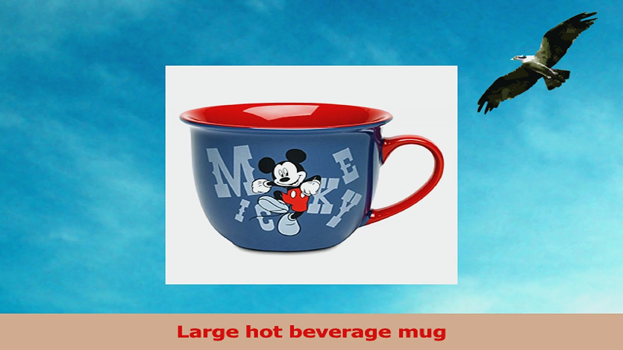 Disney Store Mickey Mouse Coffee Mug Cup Red Blue 34d3b8cb