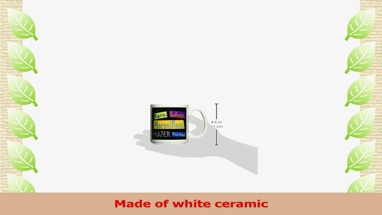 3dRose Spanish Wild Wacky Woman Ceramic Mug 15Ounce 2c2d8442