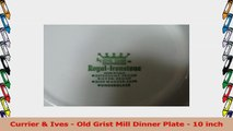 Currier  Ives  Old Grist Mill Dinner Plate  10 inch b0c6ed1e