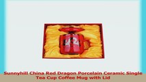Sunnyhill China Red Dragon Porcelain Ceramic Single Tea Cup Coffee Mug with Lid e534c4a9