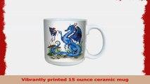 TreeFree Greetings lm43581 Fantasy Attitude Blue Dragon and Fairy Ceramic Mug with Full b72adae9