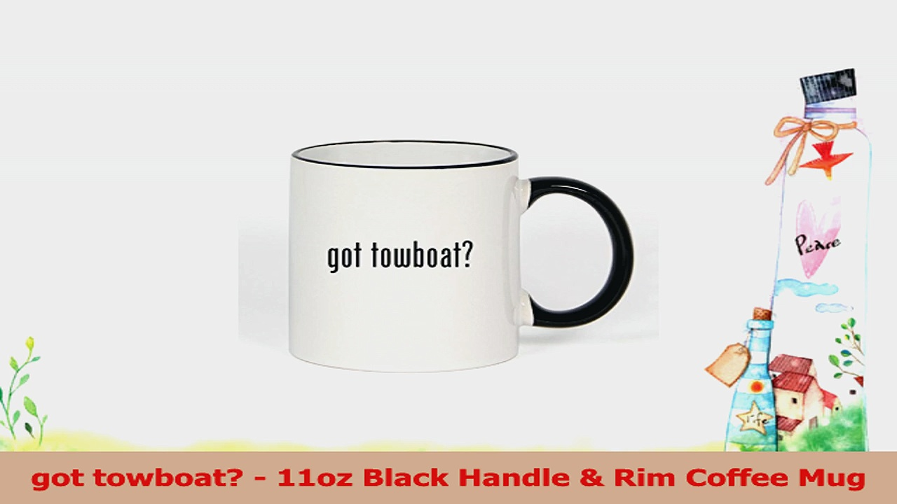 got towboat  11oz Black Handle  Rim Coffee Mug 4bd2d68f
