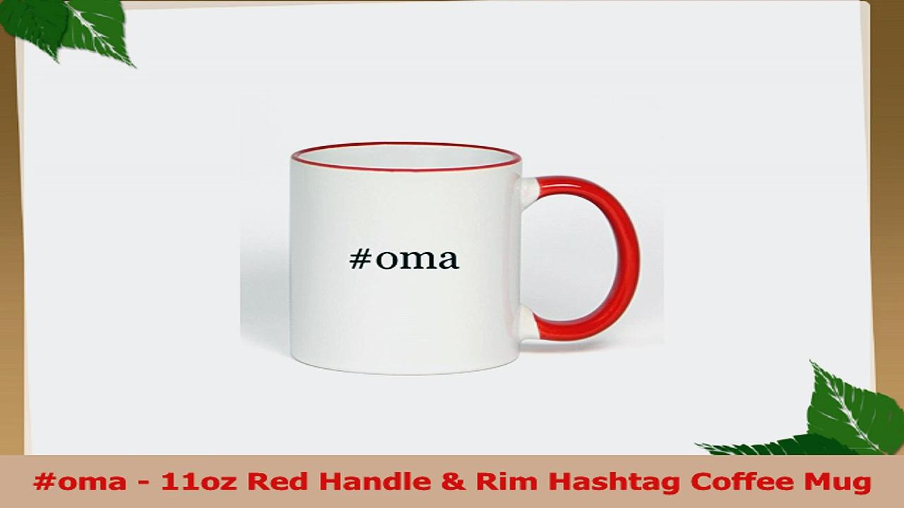 oma  11oz Red Handle  Rim Hashtag Coffee Mug 4fd11d59