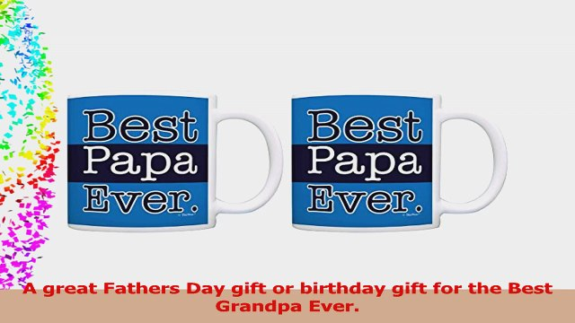 Grandpa Gifts Best Papa Ever Fathers Day Gifts 2 Pack Gift Coffee Mugs Tea Cups Blue 3e4ae6c7