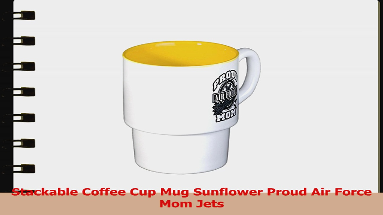 Stackable Coffee Cup Mug Sunflower Proud Air Force Mom Jets 1643821a
