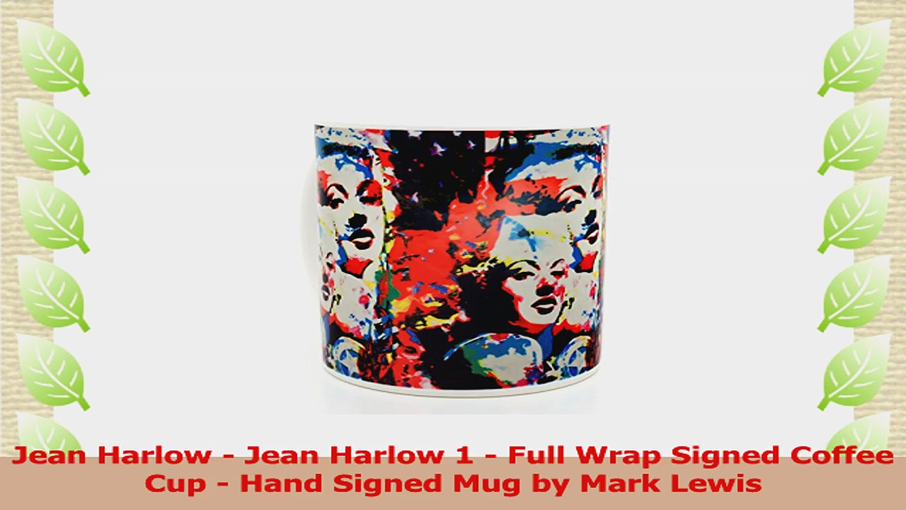 Jean Harlow coffee cup by Mark Lewis Art This mug is hand signed by the descendant of 91dd458b