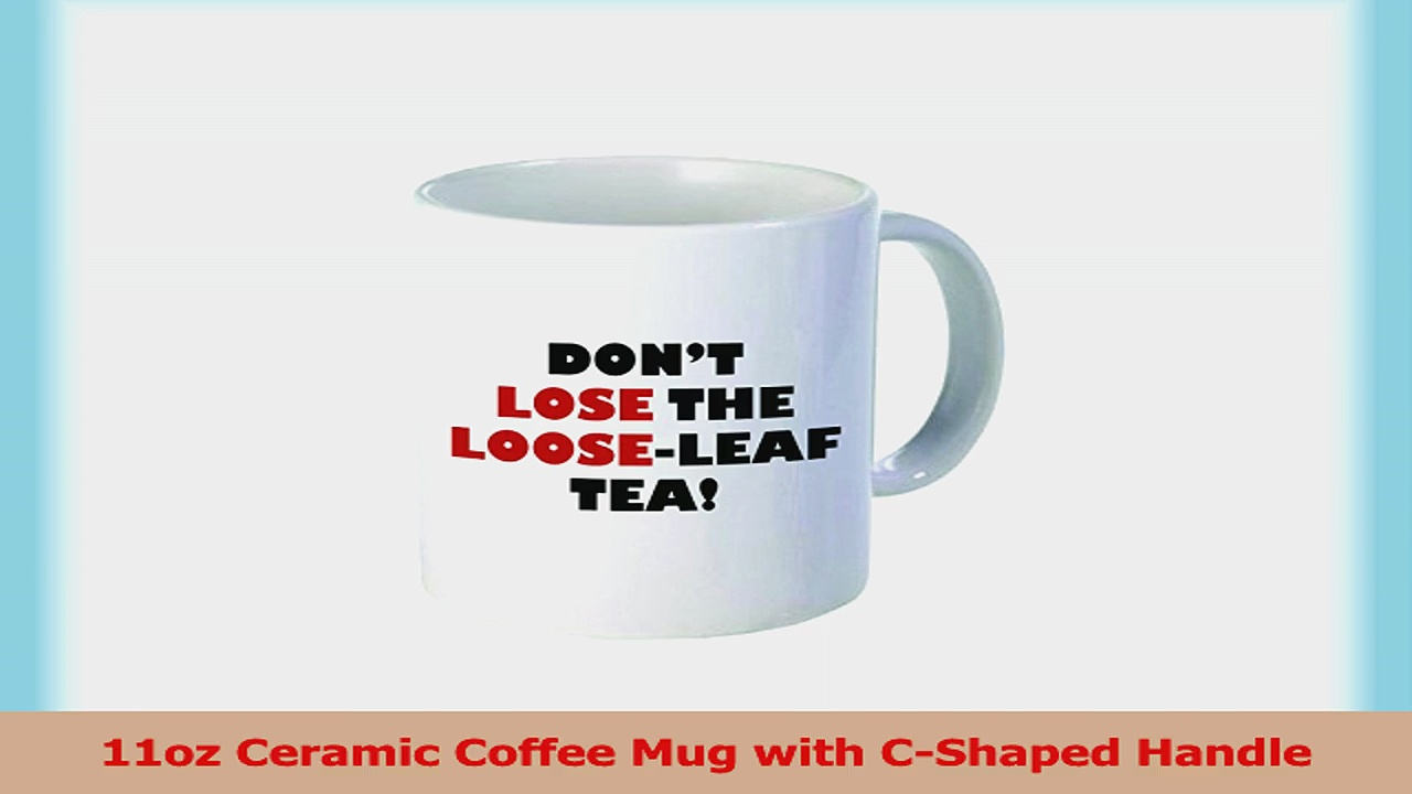 Rikki Knight DonT Lose The LooseLeaf Quote Holiday Style 11 oz Ceramic Coffee Mug Cup 7f749074