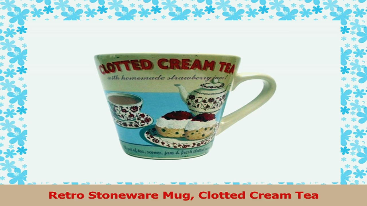 Retro Stoneware Mug Clotted Cream Tea a065f3ae