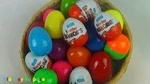 NEW Huge 30 Surprise Egg Opening Kinder Surprise Elmo Disney Pixar Cars Mickey Minnie Mouse