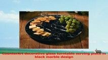 CounterArt Black Marble Lazy Susan Serving Plate 550283e9