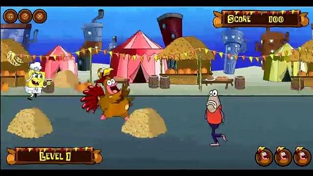 Spongebob Squarepants: Quirky Turkey Game - Spongebob Squarepants Chases Patrick!