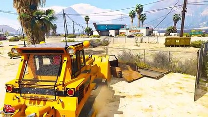 Truck carries a Tractor - Cartoons for children Spider-Man & Nursery rhymes Songs for Kids