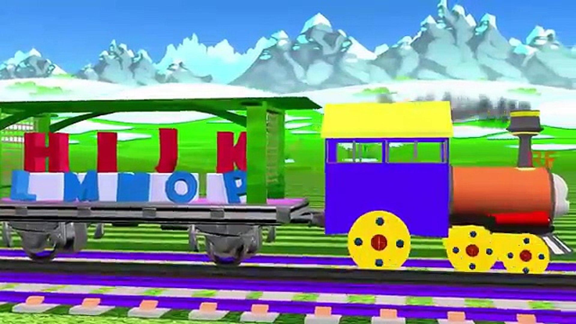 ABC алфавитов на поезд | песни A до Z для детей | 3D анимация игрушки для дошкольных детей