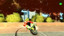 COLORS SPORT MOTORCYCLE IN FIRE IRONMANS COLORS NURSERY RHYMES Songs for Children with Action