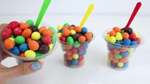 M&Ms Cups with Surprise Toys Mickey Mouse Disney Toys Marvel Heroes My Little Pony Toy Videos