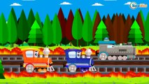 Trains & Trucks cartoons for kids. Cartoons with Trains. Train cartoon for children in english
