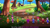 Ten Little Indians Nursery Rhyme | Popular Number Nursery Rhymes For Children by ChuChu TV