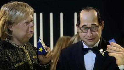 Schweppes ad : François Hollande / Angela Merkel - The Guignols - CANAL+
