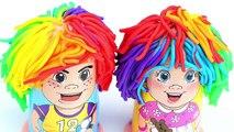 Play Doh Rainbow Hair Style How To Make Playdough Fun and Creative Kids Learn Colors