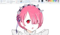 How I Draw using Mouse on Paint Re - Ram | Re:Zero