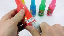 Learn Colors Slime Clay Colors Real Drinking Water Mini Bottle Milk Gummy Pudding