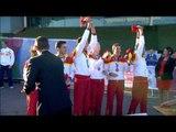 Men's 4x100m relay T11-13 | Victory Ceremony | 2014 IPC Athletics European Championships Swansea