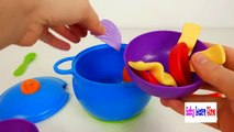 Colors For Children To Learn With Playing Kitchen And Cooking Vegetables New Sprouts