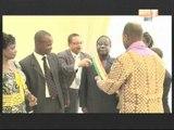 Une délégation du parlement africain de la societe civile chez le Président Henri Konan Bédié