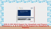ICD9CM 2013 Expert for Hospitals and Payers Volumes 1 2  3 ICD9CM Expert for