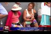 Lambayeque: dos viviendas se desploman tras fuertes lluvias en Chiclayo
