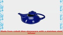Omniware Teaz Cafe Athena Cobalt Blue Stoneware Teapot with Stainless Steel Infuser 30 982f520a