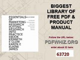 Essentials of Marketing Research Putting Research Into Practice eBook Kenneth E Clow Karen E Elaine James
