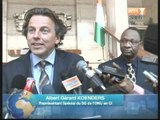 Rencontre entre Gérard Albert Koenders ,le nouveau patron de l'ONUCI et le President Ouattara