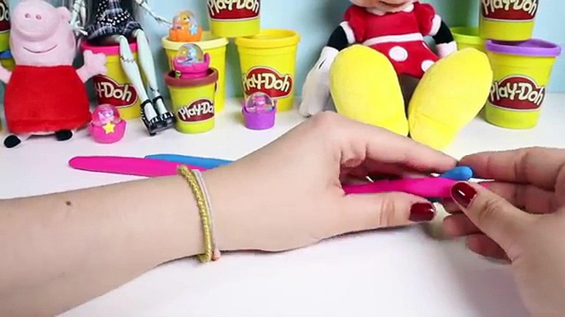 Играть DOH Леденцы DIY Play-Doh Радуга Леденцы Совки н Лакомства Playdough Popsicles Игрушка Видео
