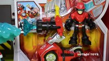 Transformers Rescue Bots Cody Burns and Rescue Hose Rescue Vehicle Toy Review