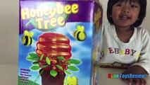 Семья забавная игра для детей пчелиные дерева яйцо сюрприз игрушки трансформер Райан ToysReview