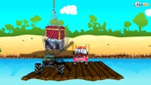 The Big Red Truck working hard in the City - Little Cars & Trucks Cartoon - Cars & Trucks for Kids