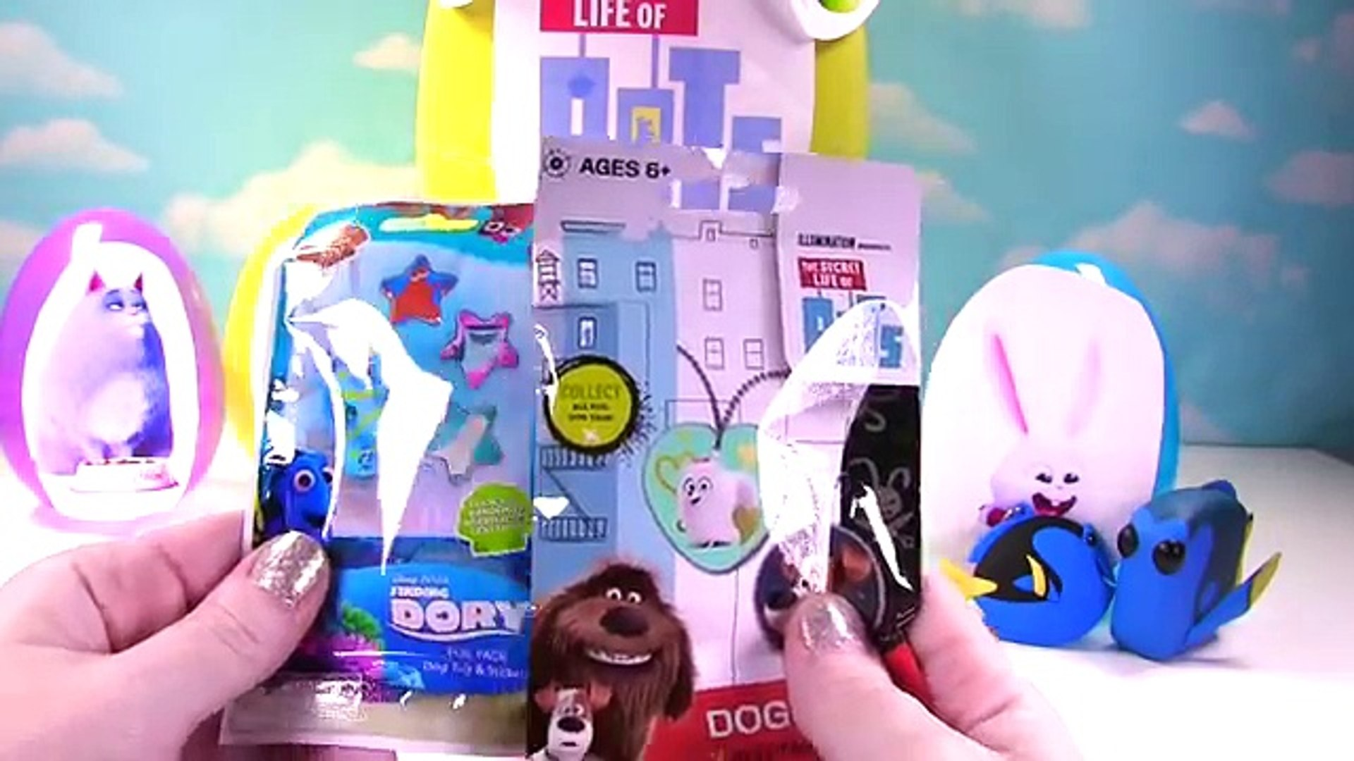 Huge Secret Life of Pets Mystery Toy Egg Surprise! Toys, Dory Mashems, Blind Bags and Beanie Babies!