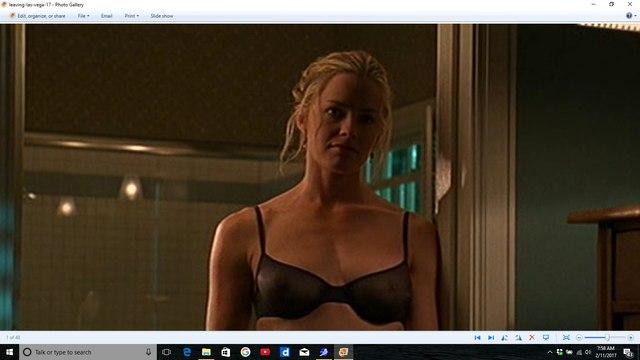 Elisabeth Shue black bra