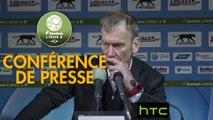 Conférence de presse AJ Auxerre - Stade Brestois 29 (3-1) : Cédric DAURY (AJA) - Jean-Marc FURLAN (BREST) - 2016/2017