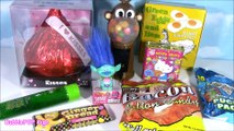 CANDY BONANZA! Monkey GUMBALL Machine! Green Candy SLIME! Bacon Cotton Candy! Giant Candy Kiss!