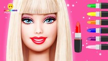Learn Colors with Barbie Makeup Lipstick - Colours for Kids Children Toddlers Baby Fun Play Videos