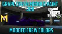 "GTA 5 Online Modded Crew Colors - NEW Grape Crush Modded Color - ""GTA 5 Modded Crew Colors"""