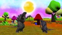 Dinosaur Cartoons Johny Johny Yes Papa Rhymes | Godzilla Johny Johny Yes Papa Nursery Rhymes
