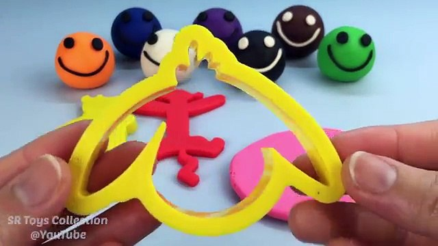 Play Doh Smiley Face with Winnie the Pooh Cookie Cutters Fun and Creative for Children