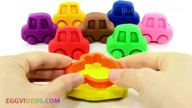 Learn Colors with Play Doh Cars Peppa Pig Cookie Cutters Fun and Creative for Kids EggVideos.com