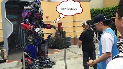 Poppin Outside - Transformer Dance at the Universal Studio [Poppin Hyunjoon 팝핀현준]